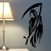 Grim Reaper Wall Decal, Halloween Vinyl Wall Art, Wall Decor
