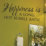 Happiness Is A Bubble Bath Vinyl Wall Decal