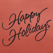 Happy Holidays Wall Decal, Vinyl Wall Art, Wall Decor