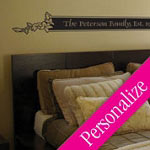 Headboard Custom Bedroom Wall Decal, Family Vinyl Wall Art