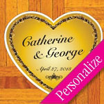 Heart of Gold Personalized Dance Floor Decal, Wedding Dance Floor Sticker