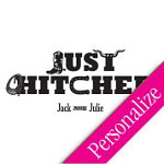 Just Hitched Personalized Dance Floor Decal, Wedding Dance Floor Sticker