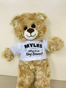 Ring Bearer Gift Proposal Teddy Bear with Personalized Shirt, Will You Be My Ring Bearer Wedding Keepsake