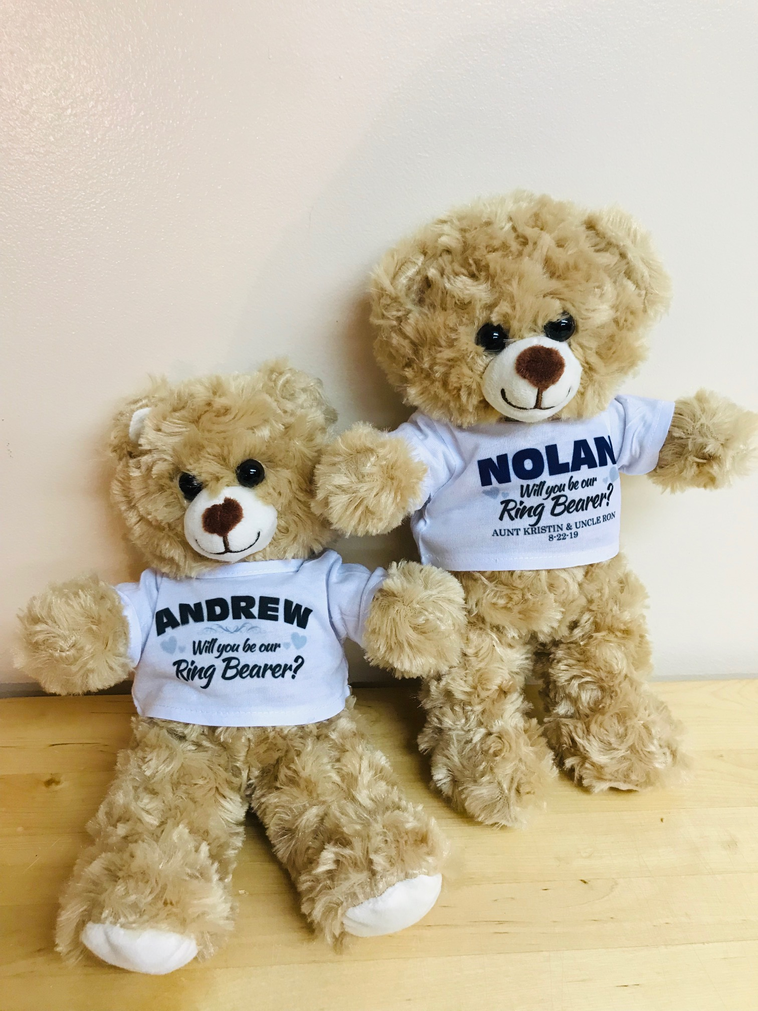 Ring Bearer Proposal Gift Sloth with Personalized Shirt Will You Be My Keepsake Stuffed Sloth for Boys