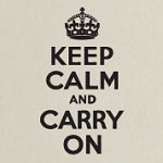 Keep Calm And Carry On Wall Quote, Family Vinyl Wall Art, Wall Decal