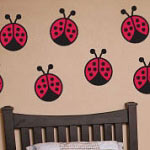 Ladybugs Animal Kids Vinyl Wall Decal