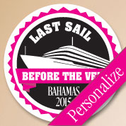 Last Sail Bachelorette Labels, Personalized Stickers, Bachelorette Party Favors