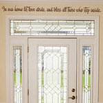 Let Love Abide Entryway Wall Quote