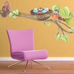 Bird Nest Animal Wall Decal Vinyl Wall Art Mural