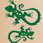Lizard Wall Decal, Animal Reptile Vinyl Wall Art
