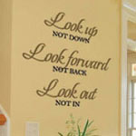 Look Up Family Wall Quote