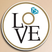 Love Wedding Engagement Stickers & Labels