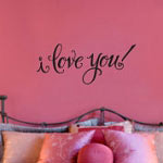 I Love You Vinyl Wall Decal, Family Vinyl Wall Art