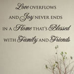 Love Overflows Vinyl Wall Quote