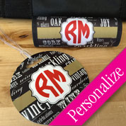 Custom Luggage Tag Set with Monogram