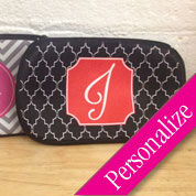 Pattern Monogram Make-up Cosmetic Bag