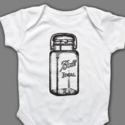 Mason Jar Onesie or T-shirt