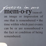 Memory Definition Wall Decal, Family Vinyl Wall Art