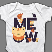 Cat Meow Onesie or T-shirt, Baby Clothes