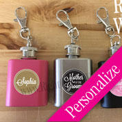 1oz Mini Flask Keychain Wedding Favors