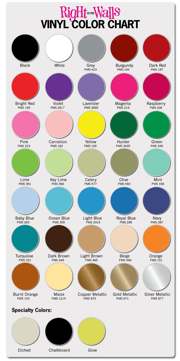 Vinyl Wall Art Decals Color Selection Guide