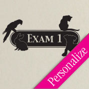Mixed Animal Exam Room Veterinary Door Sign, Custom Exam Room Decal, Animal Hospital