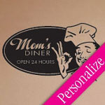 Moms Diner Kitchen Vinyl Wall Art Decal