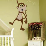 Three Little Monkeys Animal Kids Vinyl Wall Art Decal