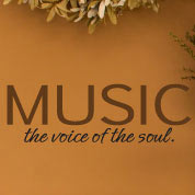 Music is the Soul Wall Quote, Wall Decal, Vinyl Wall Art