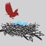 Bird Nest Animal Vinyl Wall Art Decal