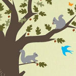 Oak Tree Animal Wall Decal Tree Vinyl Wall Art