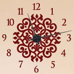 Ornamental Vinyl Wall Decal Clock