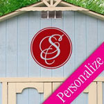 Outdoor Monogram Wall Decal, Personalized Family Wall Decor