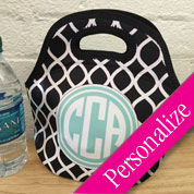 Personalized Lunch Bag, Custom Lunch Tote, Monogrammed Lunch Box