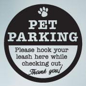 Pet Parking Wall Sign, Vinyl Wall Art