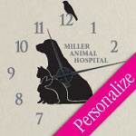 Pets Vinyl Wall Decal Animal Clock