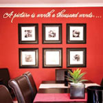 Worth 1000 Words Family Wall Quote, Vinyl Wall Decal