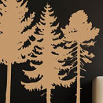 Pine Tree Grouping - Set of 3 Trees