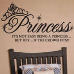 Not Easy Being A Princess Crown Kids Vinyl Wall Decal