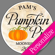 Pumpkin Pie Moonshine Labels