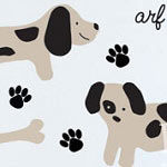 Puppy Bones Animal Wall Decal Vinyl Wall Art