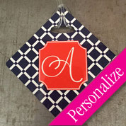 Monogram Luggage Diamond Tag with Address