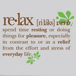Relax Definition Bathroom Vinyl Wall Decal