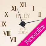Roman Numbers Vinyl Wall Decal Clock