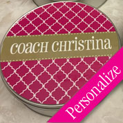 Cookie Tin with Custom Text or Name