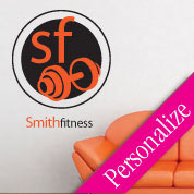 Custom Family Fitness Wall Decal, Gym Vinyl Wall Art