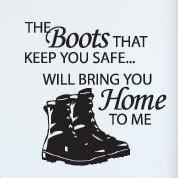 Safe Boots Soldier Wall Decal, Military Vinyl Wall Art, Americana
