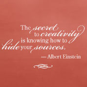 Secret to Creativity Wall Quote, Wall Decal, Vinyl Wall Art