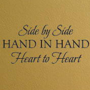 Side By Side Family Wall Quote, Bedroom Wall Decal