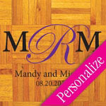 Simple Personalized Dance Floor Decal, Wedding Dance Floor Sticker